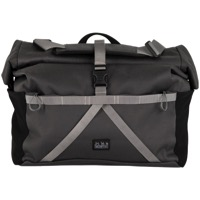 Brompton Borough Roll Top Front Bag - Dark Grey
