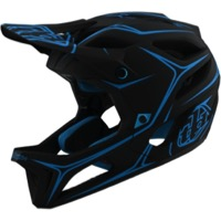 Troy Lee Designs Stage MIPS Helmet 2020 - Pinstripe Black/Cyan