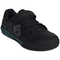 Five Ten Hellcat Clipless Pedal Women's Shoes - Core Black/Crystal White/Hazy Emerald