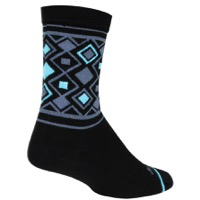 SockGuy Diamond Crew Socks - Black/Gray/Blue