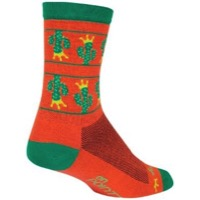 SockGuy On Point Crew Socks - Orange/Green
