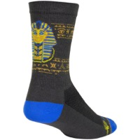 SockGuy Ancient Crew Socks - Gray/Yellow/Blue