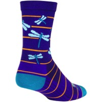 SockGuy Dragonflies Crew Socks - Purple/Blue/Orange