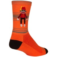 SockGuy Funky Monkey Crew Socks - Orange/Red/Brown