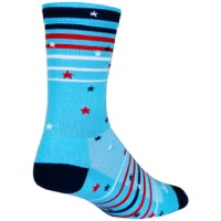 SockGuy Sparkler Crew Socks - Red/White/Blue