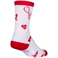 SockGuy Thank You Crew Socks - White/Red