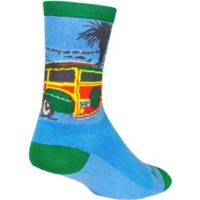 SockGuy WoodRow Crew Socks - Blue/Green/Yellow
