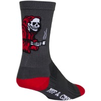 SockGuy SGX Rise and Grind Socks - Gray/Red