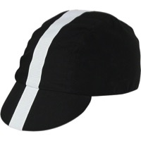 Pace Classic Cycling Cap - Black w/ White Stripe
