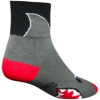 SockGuy Shark Socks - Black/Grey/Red