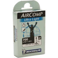 Michelin AirComp Ultra Light Presta Tubes - 700c