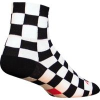 SockGuy Ridgemont Socks - Black/White Checker