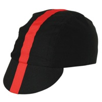 Pace Classic Cycling Cap - Black w/ Red Stripe