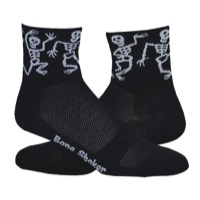 "DeFeet AirEator 3"" Bone Shaker Socks - Black"