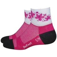 "DeFeet AirEator 2"" Pink Passion Womens Socks - Pink"