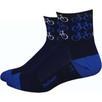 "DeFeet AirEator 3"" Cool Bikes Socks - Black/Blue"