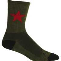 SockGuy Red Star Wool Crew Socks