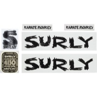 Surly Karate Monkey Frame Decal Set w/Headbadge