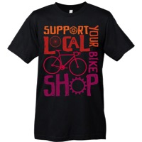 Mechanical Threads Support Your Local Shop T-Shirt - Black