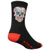 SockGuy El Dia Crew Socks - Black/Red