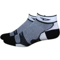 DeFeet Levitator Lite Low Socks - Black/White