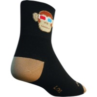 SockGuy Monkey See 3D Socks - Black/Tan