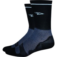 DeFeet Levitator Lite Hi Top Socks - Black/White