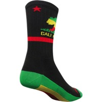 "SockGuy SGX Rasta Cali 6"" Socks - Black/Green/Red"