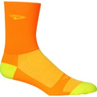 "DeFeet AirEator 5"" D Logo High Top Socks - Orange/Yellow"