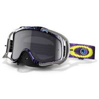 Oakley Crowbar MX Goggles - TLD Discharge Purple/Dark Grey