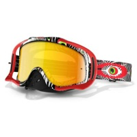Oakley Crowbar MX Goggles - TLD Discharge Red/Fire Iridium