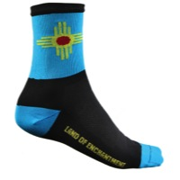 "DeFeet AirEator 5"" New Mexico Socks - Black/Turquoise"