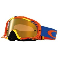 Oakley Crowbar MX Goggles - Bio Hazard Orange/Fire Iridium