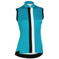 Shebeest S-Cut Solid Sleeveless Jersey - Peacock