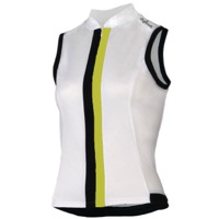 Shebeest S-Cut Solid Sleeveless Jersey - White