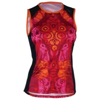Shebeest Bellissima Wings Sleeveless Jersey - Hot Tomato