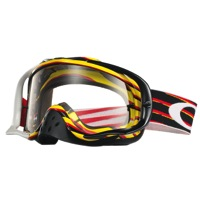 Oakley Crowbar MX Goggles - Nemesis Red/Yellow/Clear Lens