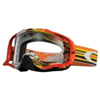 Oakley Crowbar MX Goggles - Glitch Orange/Yellow/Clear