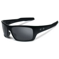 Oakley Turbine Sunglasses - Polished Black/Black Iridium Lens