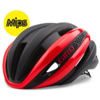 Giro Synthe MIPS Helmet 2017 - Bright Red/Matte Black