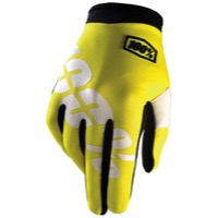 100% iTrack Gloves 2017 - Neon Yellow