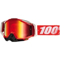 100% RaceCraft Goggles - Fire Red/Mirror Red Lens