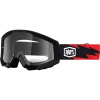 100% Strata Goggles - Slash/Clear Lens