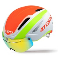 Giro Air Attack Shield Helmet 2016 - Matte White/Flame/Lime