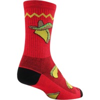 "SockGuy Taco Tuesday Crew Socks - 6"" Crew Cuff"