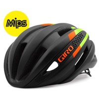 Giro Synthe MIPS Helmet 2016 - Matte Black/Lime/Flame