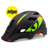 Giro Feature MIPS Helmet 2016 - Matte Black/Lime/Flame