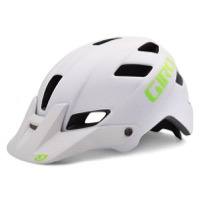 Giro Feature Helmet 2016 - Matte White/Lime