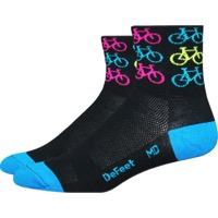 "DeFeet Aireator 3"" Cool Bikes Socks - Blue/Black"