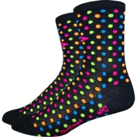 "DeFeet Aireator 4"" Spotty Socks - Black"